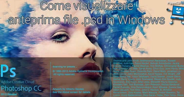 Anteprima file photoshop Windows