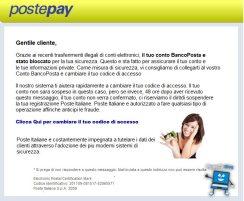 conto bloccato poste italiane (phishing)