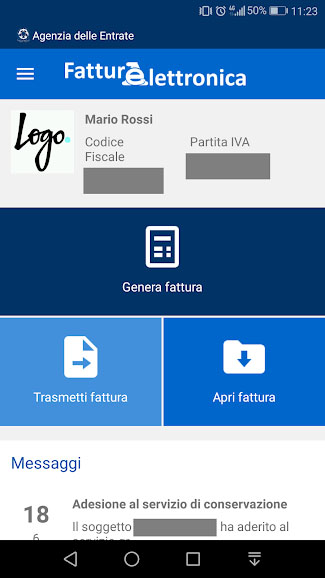 Fattura elettronica app