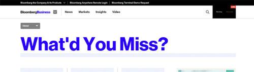 Bloomberg Handelstags-Zusammenfassung
