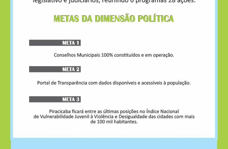 DIMENSÃO POLÍTICA E SUAS METAS