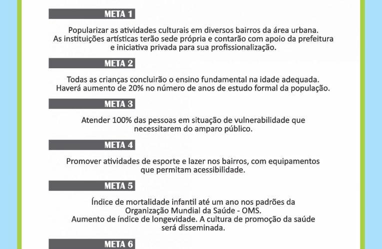 DIMENSÃO SOCIAL E SUAS METAS