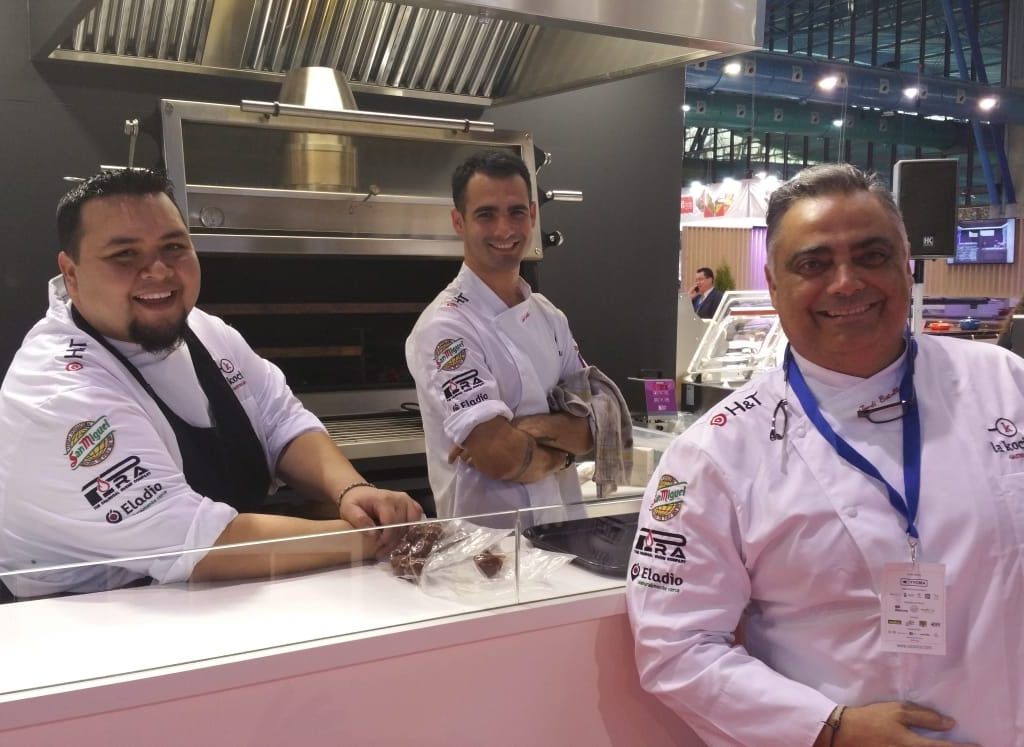 Three of the chefs that cooked with Pira at HYT 2019 stand