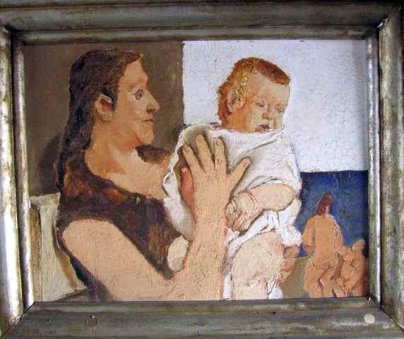 Fausto Pirandello, Donna con bambino (1929-30, Roma, Via Bosio)