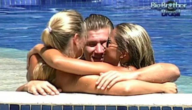 Fani Pacheco, Diego Alemão e Íris Stefanelli viveram um triangulo amoroso no BBB7 (Foto: Globo)