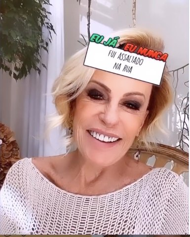 Ana Maria Braga brinca de 'eu nunca'