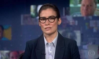 Renata Vasconcellos no Jornal Nacional - Globo