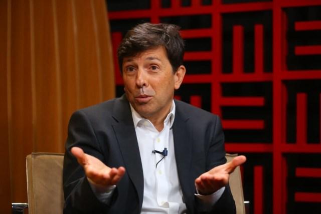 Uma foto que mostra João Amoêdo, fundador do Partido Novo