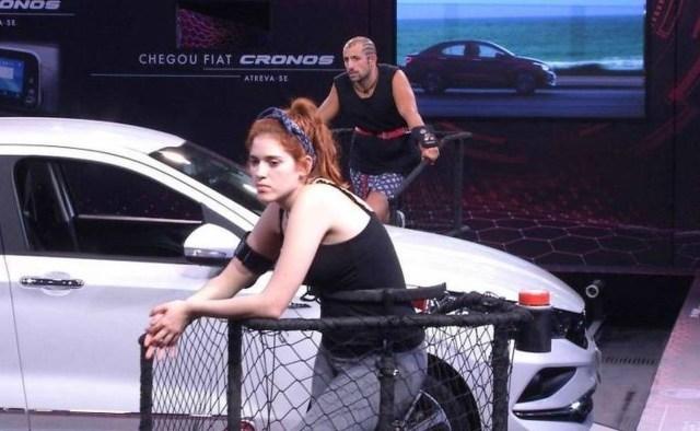 Ana Clara e Kaysar na prova de resistência