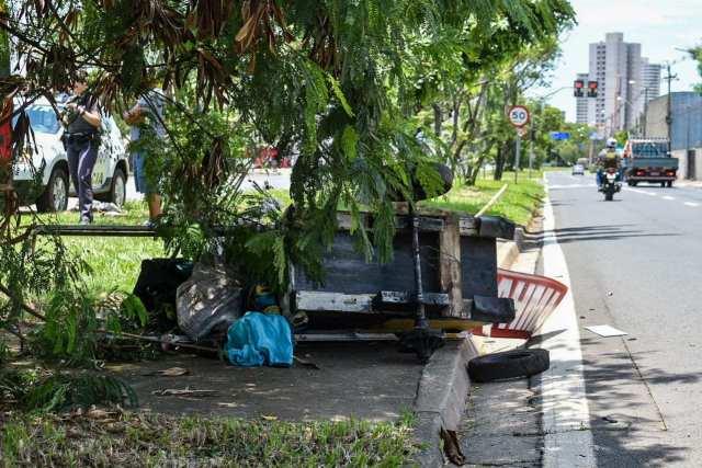 Piracicaba (SP): Catador de recicláveis é socorrido após grave atropelamento
