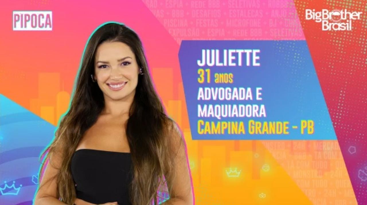 Quem é Juliette do Grupo Pipoca do BBB21?