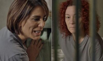 Sobre a vida na cadeia? Beatriz diz para a colega de cela que não está disposta - Foto: TV Globo