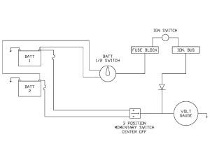 dual batteries and a single volt gauge  Pirate4x4Com : 4x4 and OffRoad Forum