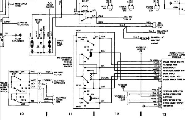 1987 wrangler wiring diagram 1987 wiring diagrams online