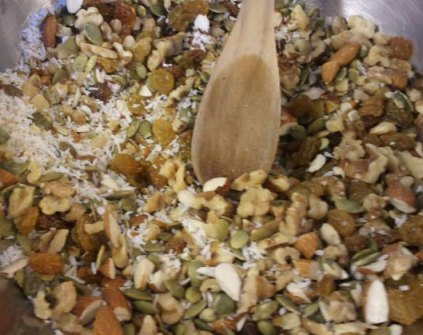 Coconut and Pumpkin seeds