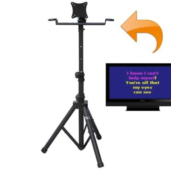 "Karaoke Monitor Stand w/19"" LED TV"