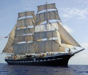 Le Belem est le dernier des grands voiliers de commerce français du XIXème siècle encore en navigation. Il sert aujourd'hui de navire école. Exposition