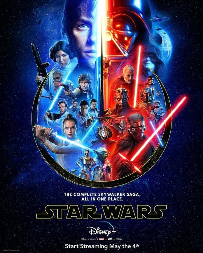 Disney Releases The Poster For The Star Wars Skywalker Saga Complete To Streaming On May 4