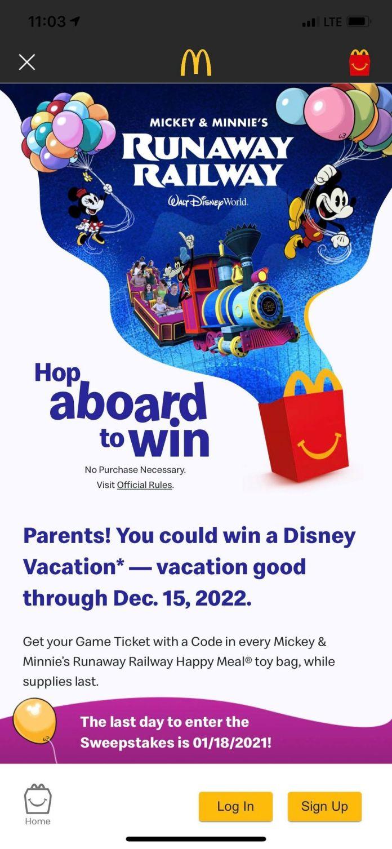 McDonald/'s Happy Meal Disney World Runaway Railway Train Mickey Minnie New