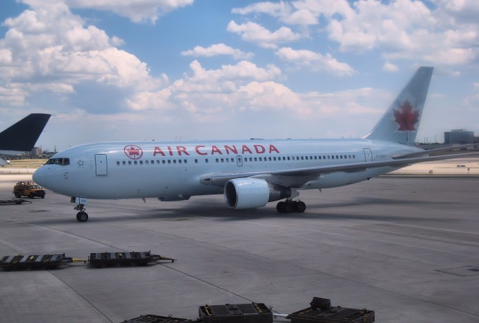 An Air Canada Jet on a tarmac