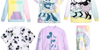 6 different pieces of clothing from the new Disney Pastel collection.
