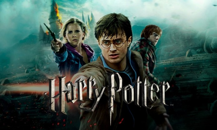 Harry Potter Poster with Harry, Hermione, and Ron