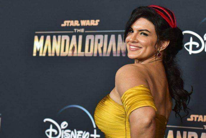 Gina Carano at Star Wars the Mandalorian event