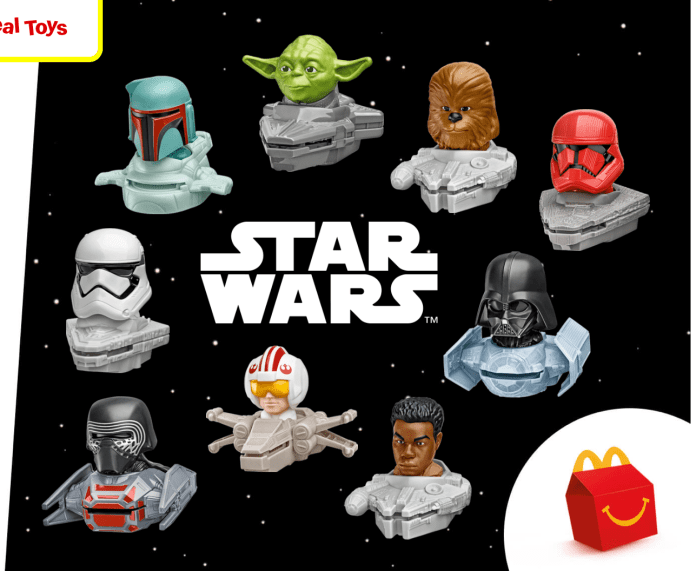 Star Wars Happy Meal Toys