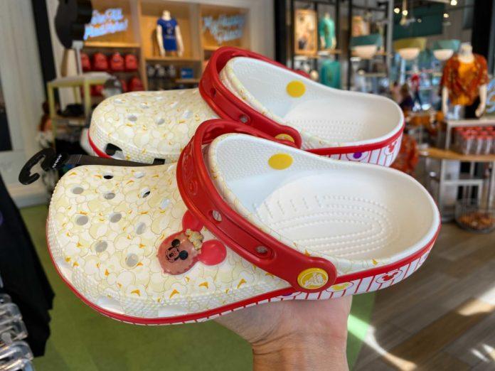 Disney popcorn pattern Crocs