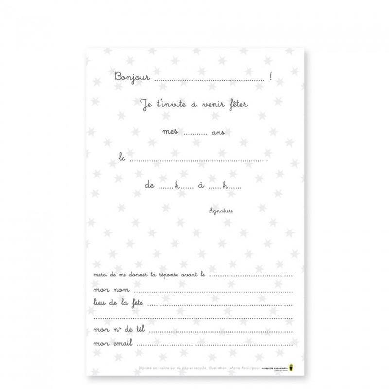 cartes d invitation d anniversaire de fete enfants imprimees en france