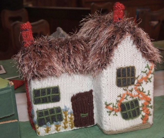 Hilda Handscombe knitted Three Gables as part of the Knit the Village Project celebrating the Queens Diamond Jubilee