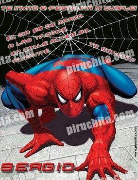 Invitación cumpleaños Spiderman #02 | Digital Imprimible