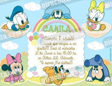 Invitación cumpleaños Mickey Baby y sus amigos #01 | Digital Imprimible