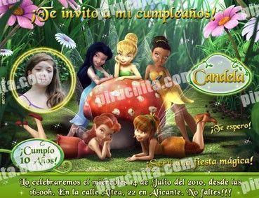 Invitación cumpleaños Campanilla #02-0