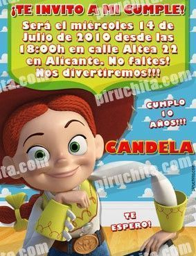 Invitación cumpleaños Toy Story #03-0