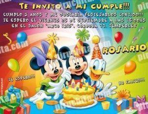 Invitación cumpleaños Mickey y sus amigos #03-0