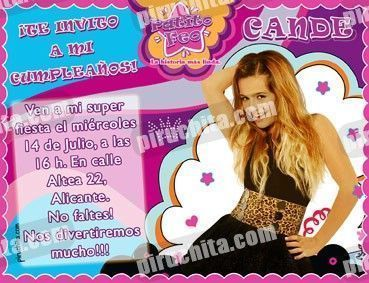 Invitación cumpleaños Patito Feo #04-0