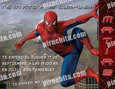 Invitación cumpleaños Spiderman #04-0