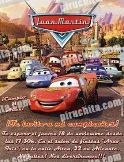 Invitación cumpleaños Cars #05-0
