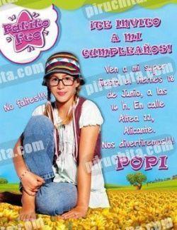 Invitación cumpleaños Patito Feo #05-0