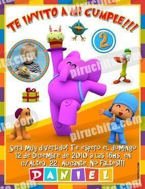 Invitación cumpleaños Pocoyo #05-0