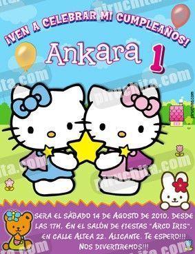 Invitación cumpleaños Hello Kitty #06-0