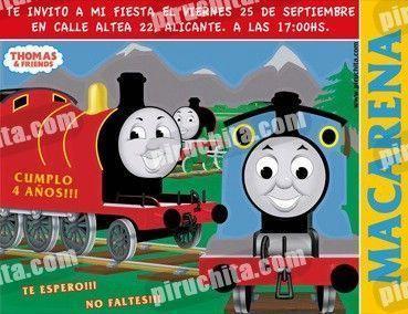 Invitación cumpleaños Thomas y sus amigos #09-0