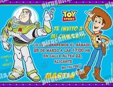 Invitación cumpleaños Toy Story #10-0