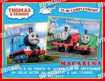 Invitación cumpleaños Thomas y sus amigos #12-0