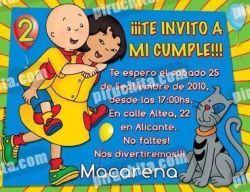 Invitación cumpleaños Caillou #13-0