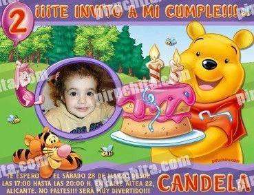 Invitación cumpleaños Winnie Pooh #01-0