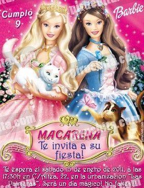 Invitación cumpleaños Barbie #1-0