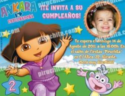 Invitación cumpleaños Dora la Exploradora #03-0