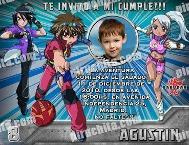 Invitación cumpleaños Bakugan #4-0